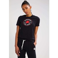 Converse CORE SOLID CHUCK PATCH CREW T-shirt z nadrukiem black CO421D04A