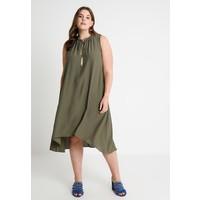 Live Unlimited London HIGH LOW HEM TRAPEZE DRESS Długa sukienka khaki L0J21C02I