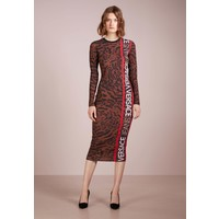 Versace Jeans Sukienka z dżerseju brown 1VJ21C042