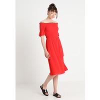 Dorothy Perkins PLAIN SHIRRED BARDOT DRESS Sukienka letnia red DP521C1MT