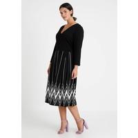 Anna Field Curvy Sukienka z dżerseju black/off-white AX821C021