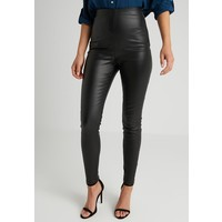 Lost Ink Petite EXCLUSIVE COATED TROUSER Legginsy black LOH21A009