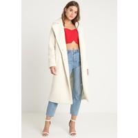 Missguided LONGLINE COAT Płaszcz wełniany /Płaszcz klasyczny cream M0Q21U00N