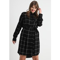 CAPSULE by Simply Be DRESS WITH SIDE POCKETS SPLIT Sukienka koszulowa black/white CAS21C005