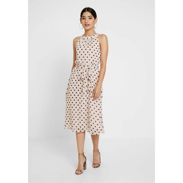 Wallis Petite SPOT HALTER NECK FIT AND FLARE MIDI Sukienka letnia blush WP021C06B