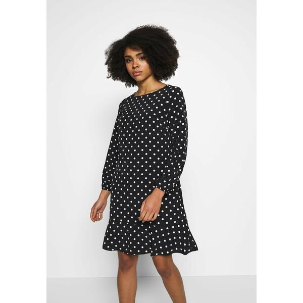 Wallis Petite SPOT FLIPPY HEM SHIFT DRESS Sukienka letnia black WP021C072