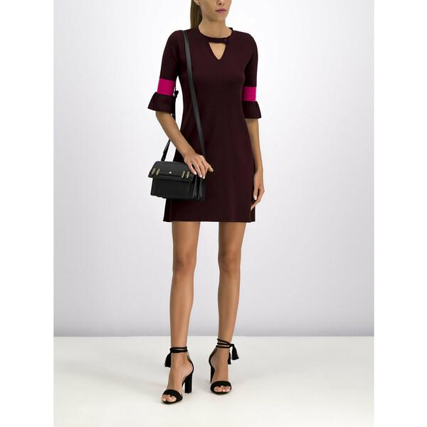 MAX&Co. Sukienka dzianinowa 73249919 Bordowy Slim Fit