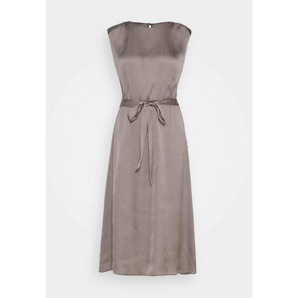 Dorothy Perkins SHOULDER PAD SLEEVELESS MIDI DRESS Sukienka letnia silver DP521C2IE