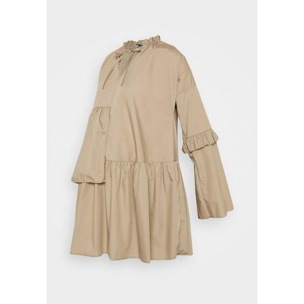 Missguided Maternity RUFFLE PANEL DRESS Sukienka letnia brown M5Q29F015
