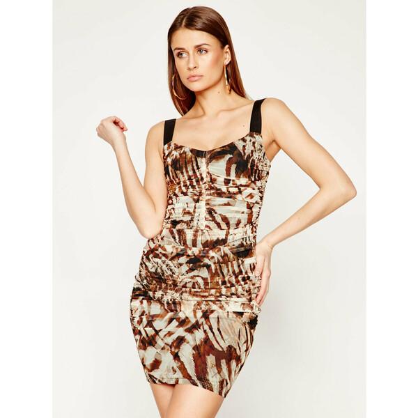 Marciano Guess Sukienka koktajlowa Sandscape 02G724 6875Z Brązowy Slim Fit