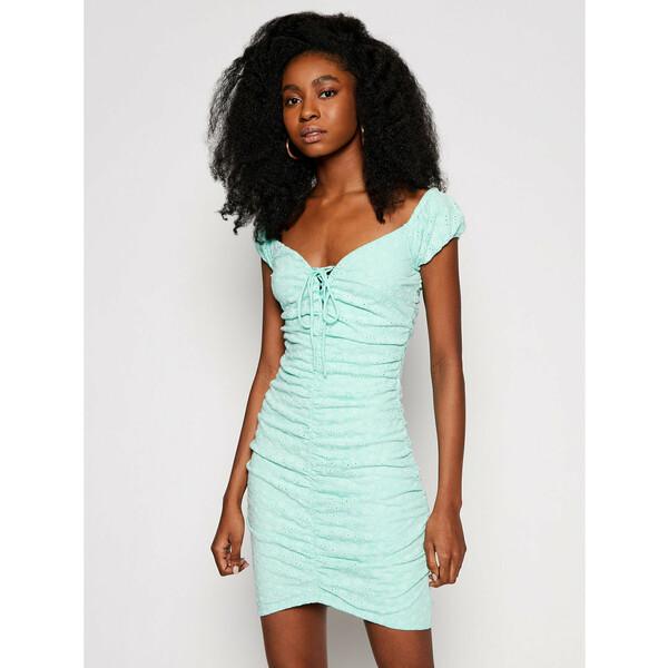 Guess Sukienka letnia W1GK0F KALQ0 Zielony Slim Fit
