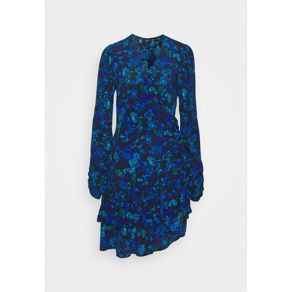 River Island RUFFLE HEM TEA DRESS Sukienka letnia blue RI921C0OI