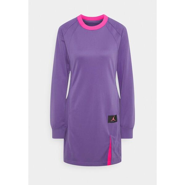 Jordan DRESS Sukienka letnia wild violet/pinksicle/hyper pink JOC21C002
