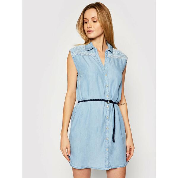 Pepe Jeans Sukienka koszulowa Benny PL952820 Niebieski Regular Fit