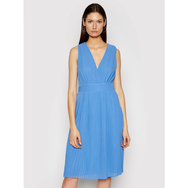 Pepe Jeans Sukienka koktajlowa Norma PL952860 Niebieski Regular Fit