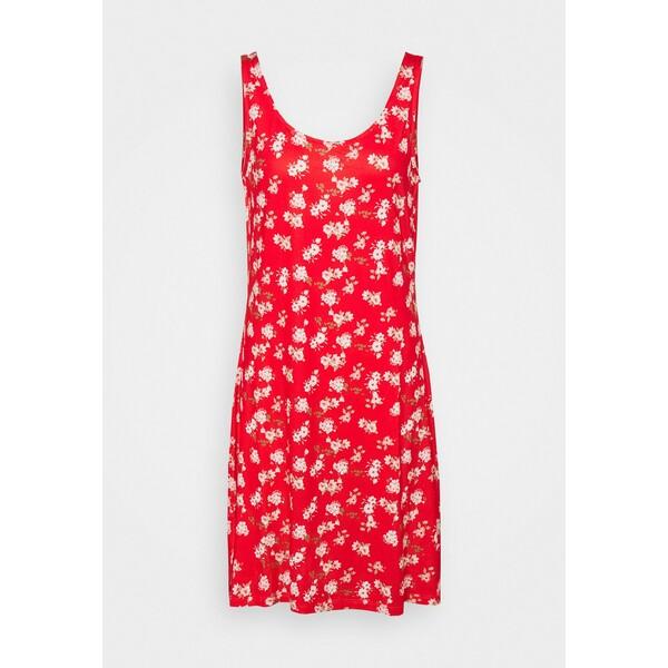 Vila VISUN DRESS Sukienka z dżerseju flame scarlet V1021C2GR