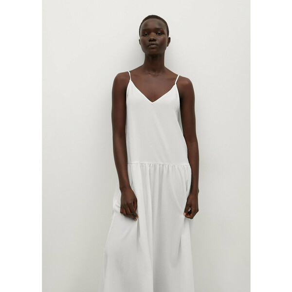 Mango Sukienka letnia Salma 87039036 Biały Regular Fit