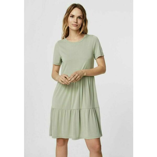 Vero Moda SHORT SLEEVE Sukienka z dżerseju desert sage VE121C2T9