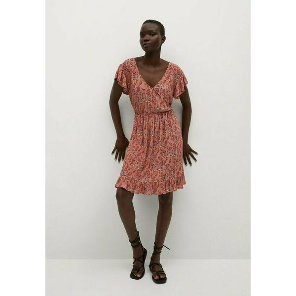 Mango GRACIOSA Sukienka letnia fraise M9121C53G