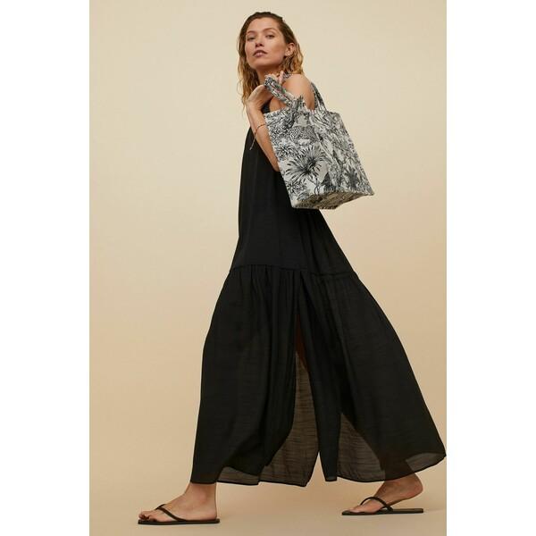 H&M Długa sukienka plażowa 0956896001 Czarny