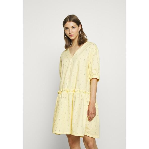 Monki ROBIN DRESS Sukienka letnia yellow MOQ21C083