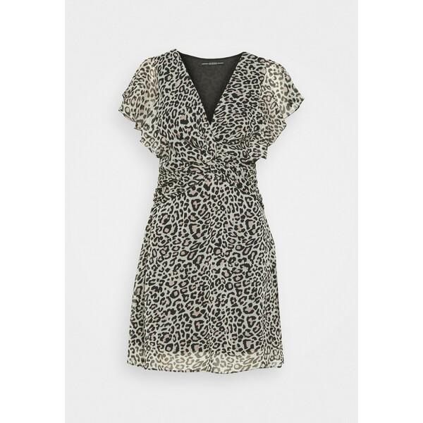 Guess LANA DRESS Sukienka letnia braun GU121C0Y7