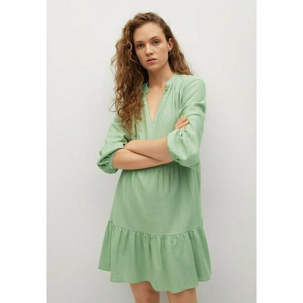 Mango Sukienka letnia zielony M9121C51X