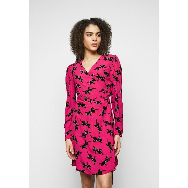 Diane von Furstenberg SAVILLE Sukienka letnia pink DF221C07F