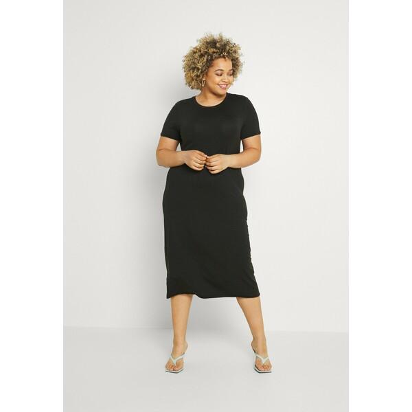 Vero Moda Curve VMGAVA DRESS CURVE Sukienka z dżerseju black VEE21C079