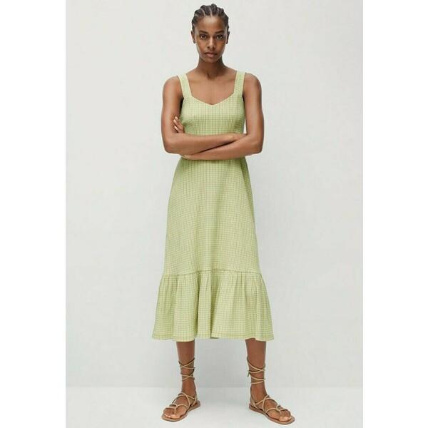 Mango Sukienka letnia groen M9121C517
