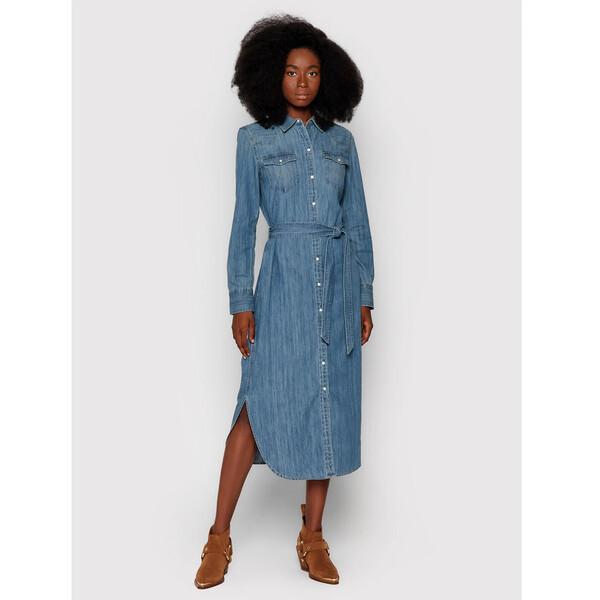 Lauren Ralph Lauren Sukienka jeansowa 200808312001 Niebieski Regular Fit