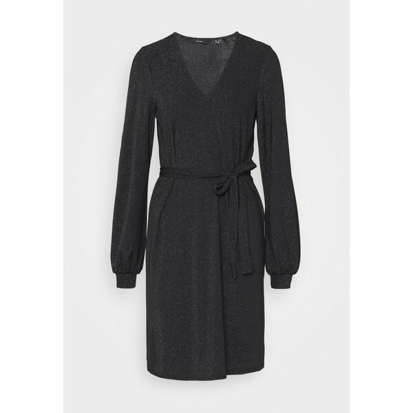 Vero Moda Tall VMJELINA SHORT DRESS Sukienka z dżerseju black/silver VEB21C06Q
