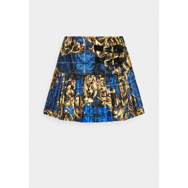 Versace Jeans Couture SKIRT Spódnica mini blue/gold VEI21B00G