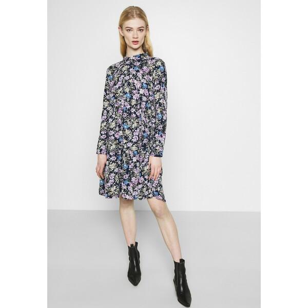 JDYPIPER WVN N Sukienka koszulowa black iris/purple/parisian blue JY121C0FQ