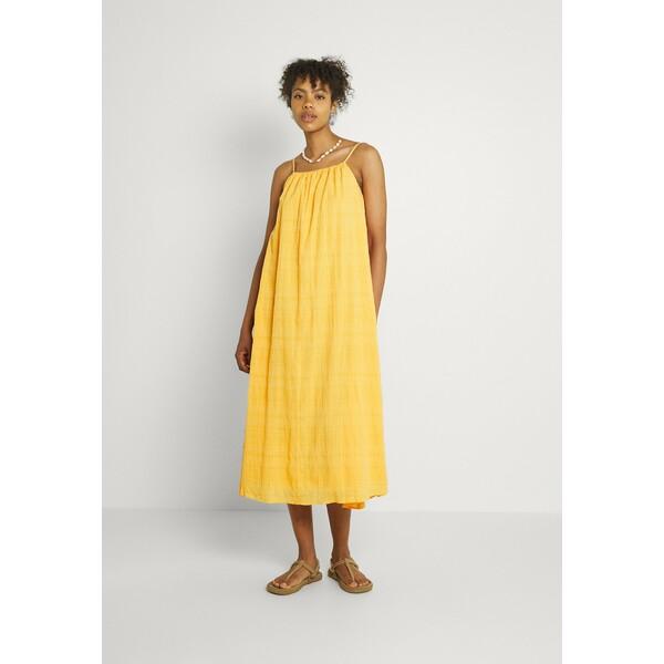 EDITED EMELIA DRESS Długa sukienka marigold orange EDD21C0EP