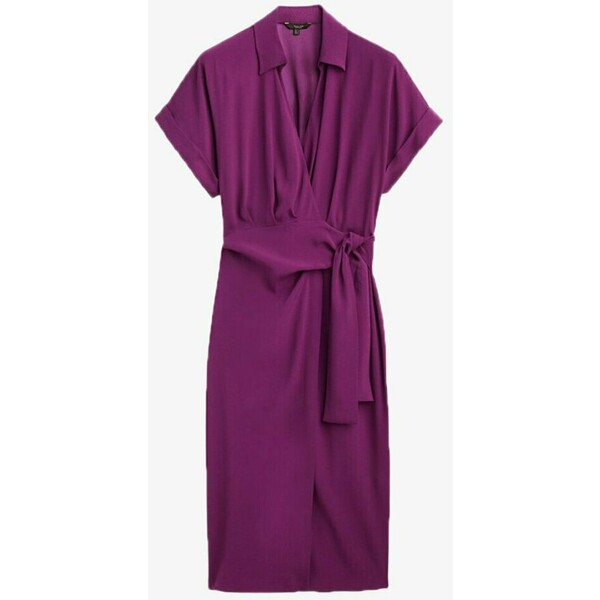 Massimo Dutti Sukienka letnia dark purple M3I21C0H0