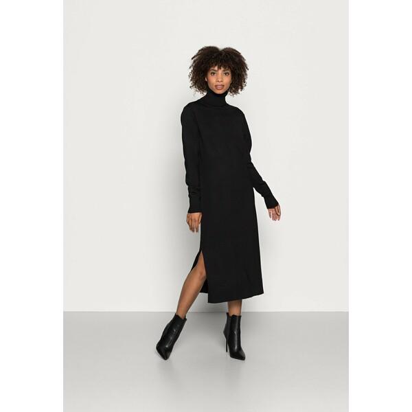 Saint Tropez MILA ROLL NECK LONG DRESS Sukienka dzianinowa black S2821C0CL