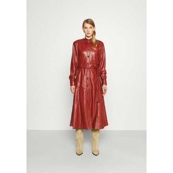 Materiel ECO OPEN BACK DRESS Sukienka koktajlowa brick MDH21C009
