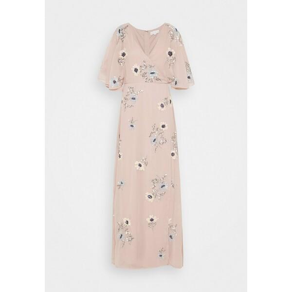 Maya Deluxe KIMONO FLORAL EMBELLISHED WRAP DRESS Długa sukienka frosted pink M2Z21C08C