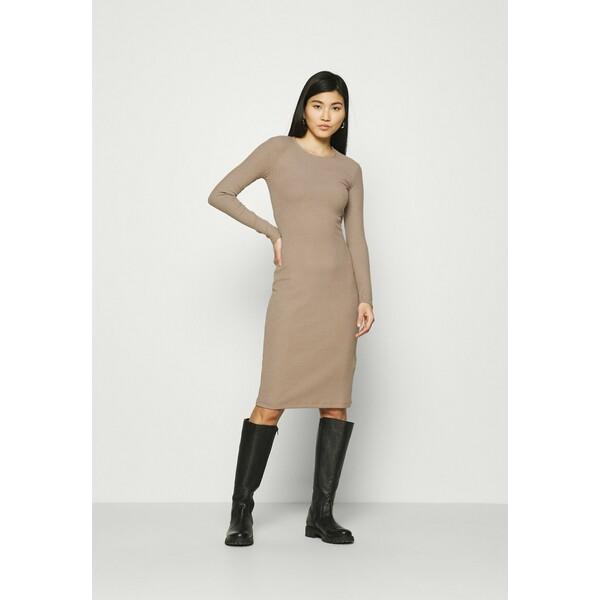 Anna Field Sukienka dzianinowa light brown AN621C1M3