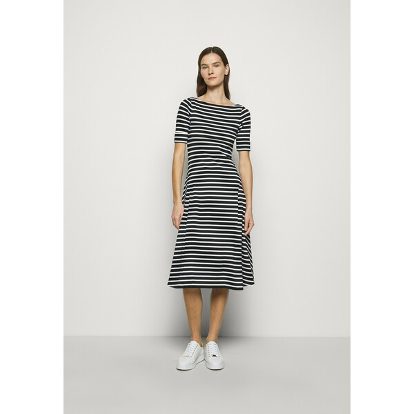 Lauren Ralph Lauren Sukienka z dżerseju black/white L4221C14Y