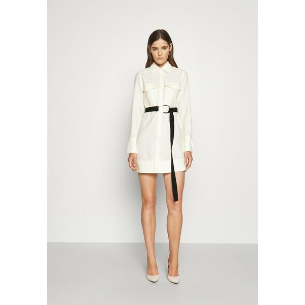 Victoria Victoria Beckham BELTED PATCH POCKET SHIRT DRESS Sukienka koszulowa daisy white VIT21C01U