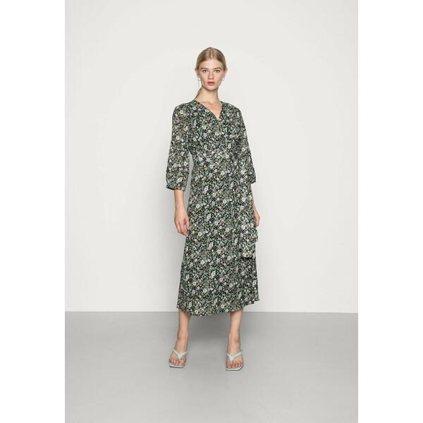 Soaked in Luxury LIONA WRAP DRESS Sukienka letnia multi green SO921C08G