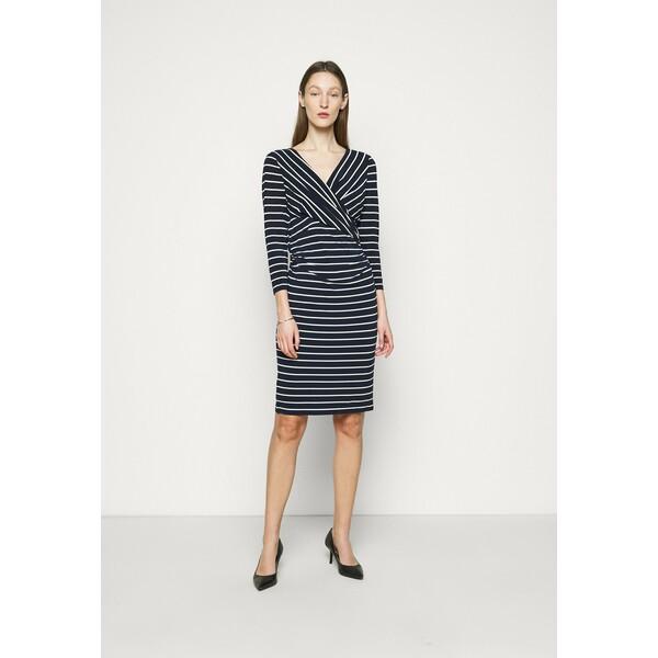 Lauren Ralph Lauren PRINTED MATTE DRESS Sukienka etui lighthouse navy L4221C14O