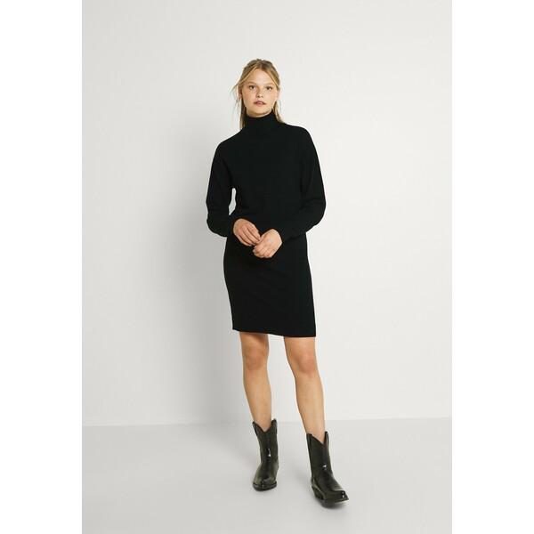 Vila VIRUBI L/S ROLL NECK/KA Sukienka dzianinowa black V1021C2P4