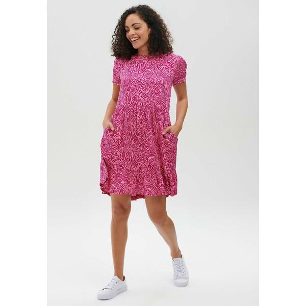 Sugarhill Brighton KYLIE WILD ANIMAL Sukienka letnia pink SUP21C04E
