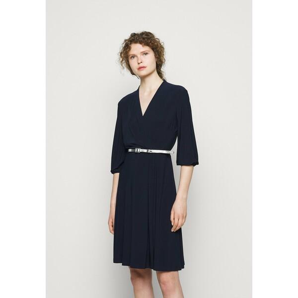 Lauren Ralph Lauren MID WEIGHT DRESS BELT Sukienka z dżerseju lighthouse navy L4221C17P