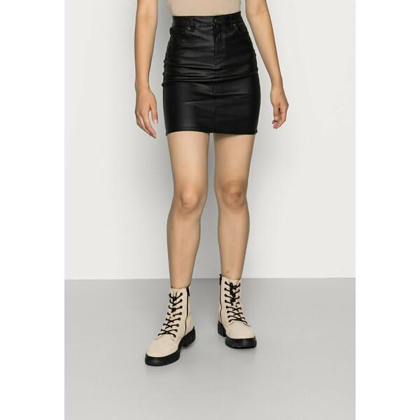 Vero Moda VMFAITH SHORT COATED SKIRT Spódnica mini black VE121B0UA