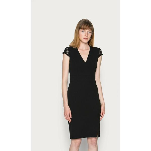 Anna Field LACE CAP SLEEVES POLYCREPE OCCASION MINI DRESS (AN-AW21-C007-SJ) Sukienka koktajlowa black AN621C1NS