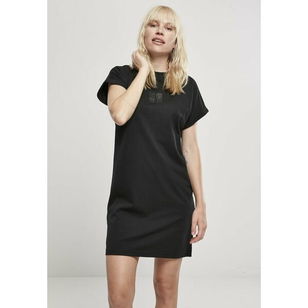 Urban Classics Sukienka z dżerseju black/black UR621C01T